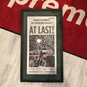 Philadelphia Eagles Super Bowl LII Champions Inquirer Newspaper Framed 2/5/2018