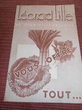 CATALOGUE GRAINE JARDIN POTAGER LEONARD LILLE , LYON - VILLEURBANNE  (ref 55)