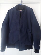 Mens Navy Blue Flight Military Bomber Jacket 38 L by Advanced Uniforms Chicago