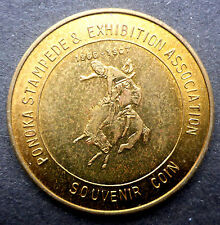 "CANADIAN TRADE DOLLAR 1967 PONOKA STAMPEDE & EXHIBITION 50 CENT ""BUCKING BRONCO"""