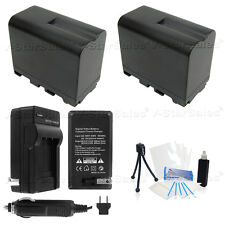 2X NP-F970 Battery + Charger + BONUS for Sony CCD-TR940 TR930 TR910 TR67 TR818