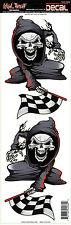 Lethal Threat Adesivi Sticker XL Reaper RACING FLAG LG ideale per casco, moto