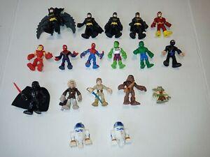 Imaginext Figures LOT Of 18 Marvel Comics DC Super Friends + Star Wars