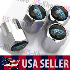 Ford Car/Truck Logo Valves Stems Caps Covers Chromed Roundel Wheel Tire Emblem 2