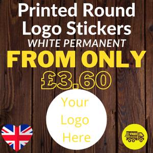 LOGO Printed Round Stickers Custom Logo labels postage labels Personalised Matt