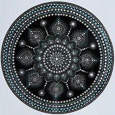 disc-mandala 12 / vinyl record mandala art handmade painting