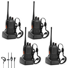 4 pcs BaoFeng 888S Walkie Talkies 2 Way Radios Long Range UHF 400-470MHZ 16CH CA