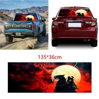 135*36CM 3D Moon Devil Graphic Tint Decal Rear Window Sticker For Truck Jeep SUV