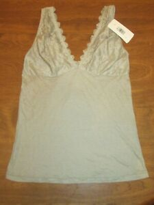 833J1 DKNY 731027 Ravishing Romance Cotton Camisole With Lace Army Green Large