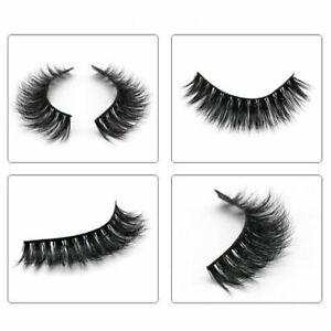 QUALITY 100% Luxury Mink 🌈 Eyelashes STRIP LASHES FALSE THICK WISPY Glue Set