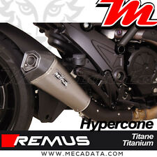 Silencieux échappement Remus Hypercone Titane sans Cat Ducati Diavel Carbon 2015