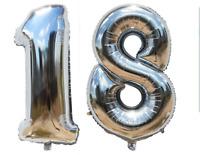 Folienballon Zahlenballon Heliumballon Luftballon Geburtstag Deko 100cm Zahl 18