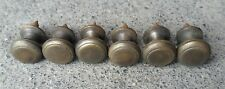 """6 Solid Brass SMALL Stacking Barrister Bookcase 1/2""""dia Knobs drawer Pulls #K18"""