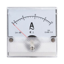 1PC Square Analog Panel AMP Current Meter AC 0-10A Ammeter Gauge DH-80 80*80