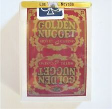 Golden Nugget Vintage1970's Cards used & Resealed by Casino Retains most Cello