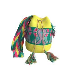 Wayuu wayu Colombian Mochila bag crochet handmade ethnic boho summer beach