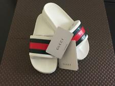 Women's Brand New Gucci Logo Slides Rubber-Flip Flops/Sandals/White-Size 39