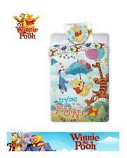 Official Disney Winnie The Pooh Reversible Duvet Set Bedding Set 100% Cotton
