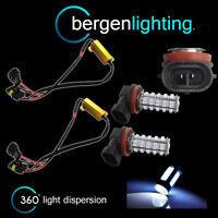 2X H8 WHITE 60 LED FRONT MAIN HIGH BEAM LIGHT BULBS HIGH POWER XENON MB500401