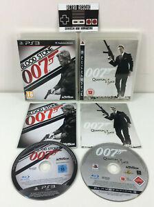 James Bond 007 Blood Stone + Quantum of Solace PS3 Playstation 3 Game Bundle CIB