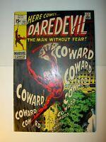 Daredevil #55 FN/VF, 59 VF-, lot of 2, Silver Age, Gene Colan art,1969, BV=$46