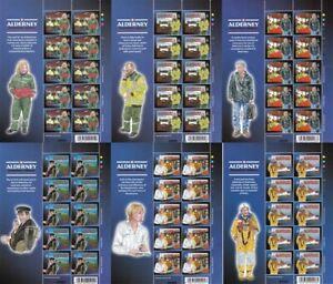 ALDERNEY 2002 MEDICAL SERVICES PART 3 ALL 6 COMPLETE SHEETS MNH