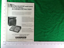 Shure Pro Master Sound System vintage advert 1982 new loudspeaker mixer