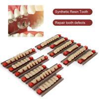 Dentadura completa dental Diente falso Resina sintética Dientes Color Carilla