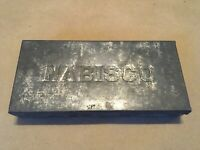 "Early Nabisco Tin Box Lidded Embossed Vintage Advertising Box 6.5"" x 3"" 8 avail."