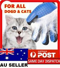 New Pet shedding Cleaning Brush Magic Glove Hair Massage Grooming Groomer IN Aus