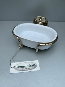 Samuel Heath Gold Wall Mounted Soap Dish Holder With Ceramic Dish