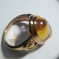 Powerful yellow color ring  lucky gems naga eye crystal real thai amulet 01