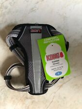 Kong Padded Harness Grey & Black Girth 16-24 Inches Size S Brand New W/Tags