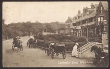 Kent. Whitstable. Tankerton Road. Horse Carriages, Shops, Fashionable Lady. 1919