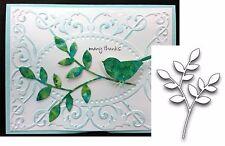 Lorelai Leaf metal die Poppystamps cutting dies 839 stem,branch,leaves