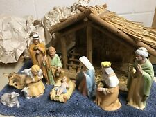 Homco Vintage #5599 Porcelain Nativity Set. 9 Pieces Retired