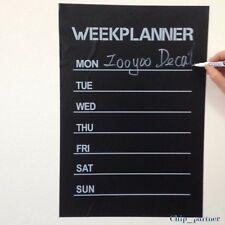 Weekly Planner Calendar MEMO Chalkboard Blackboard Vinyl Wall Sticker DIY Week