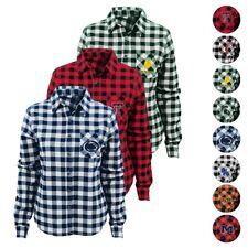 "NCAA Outerstuff ""Buffalo Plaid"" Flannel Long Sleeve T-Shirt Girls Youth (XS-XL)"