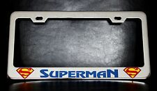 """SUPERMAN"" License Plate Frame, Custom Made of Chrome Plated Metal"