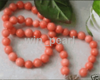 5-6mm pink coral beads Charming necklace 20inch