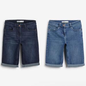 Ladies Next Denim Knee Length Shorts Blue Sizes 6 - 26 NEXT DAY OPTION
