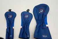 New Set of 3 Adams Blue Headcovers Driver & 2 Fairway Wood Golf Head Covers