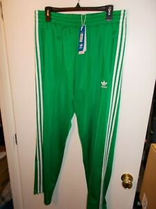 NWT Mens Large Green Adidas Firebird Track Pants Sweatpants New GN3520