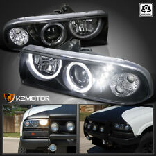1998-2004 Chevy S10 Pickup Blazer Halo Projector Headlights Black Left+Right