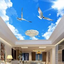 Blue Sky Ceiling Wallpaper Customized 3D Photo Murals For Home Living Room Decor