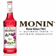MONIN Coffee Cocktail Syrups - 70cl Glass ROSE Syrup - SEEN USED BY COSTA COFFEE
