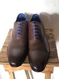 Shoepassion Oxford Captoe, Braun, Ungetragen, rahmengenäht, Größe 12,5