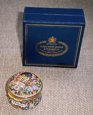 Vintage Hinged Christmas 1992 Box Halcyon Days Enamels Little Town Bethlehem 26f