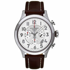 REVUE THOMMEN MEN'S Airspeed Retro X Large 16062.6532 AUTOMATIC LEATHER WATCH