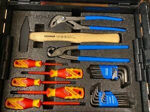 Gedore L-BOXX 102 , Mit 26tlg Werkzeug-Set, Frontgriff, Werkzeugkiste, Unbenutzt